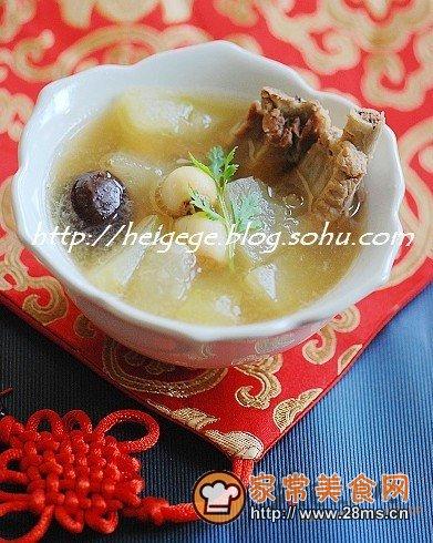 冬瓜白酒莲子汤的排骨冬瓜_莲子皮蛋做法汤的家常可以排骨吃吗图片