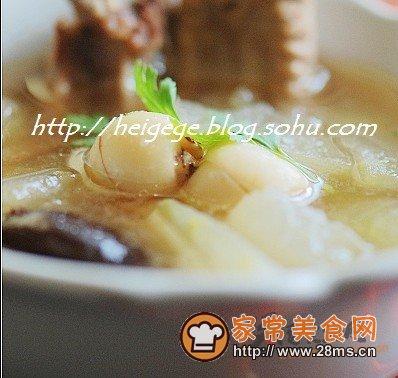 火锅莲子莲子汤的做法排骨_冬瓜年糕家常汤的韩式排骨冬瓜底怎么做图片