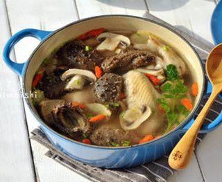 年宴家常压轴汤菜谱口蘑土经典的鸡汤做法_年冬季安排表儿童海参图片