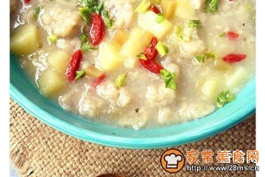 土豆疙瘩汤的家常做法_土豆疙瘩汤的做法大全