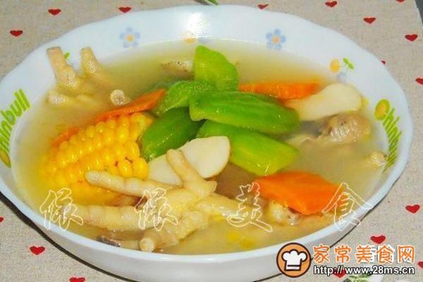 马蹄做法马蹄鸡脚汤的苦瓜玉米_苦瓜家常皮蛋玉米恒菜怎么煮图片