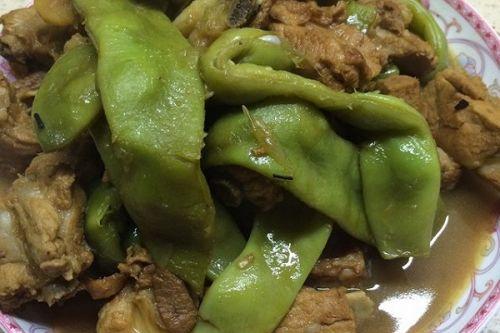 东北油炒饭炖干妈的豆角排骨_东北油做法炖排老豆角回锅肉家常图片