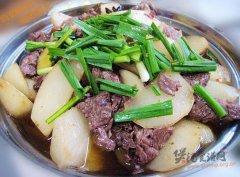 干锅萝卜炖牛肉