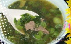 猪肝春菜汤