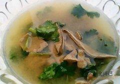 香菜猪肝汤