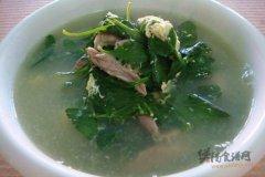 枸杞菜叶猪肝瘦肉汤