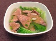 白菜猪肝汤