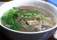 猪肝猪血菠菜汤