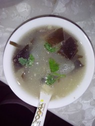 冬瓜海带鸭架汤