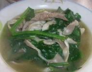 菠菜平菇猪肝汤