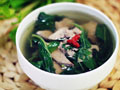 枸杞叶猪肝瘦肉汤