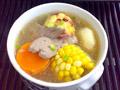玉米萝卜猪肝汤