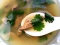 家常鲜汤香菜猪肝汤