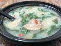 粥底枸杞叶猪肝汤