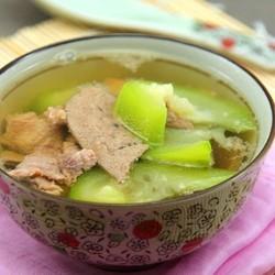 丝瓜猪肝瘦肉汤