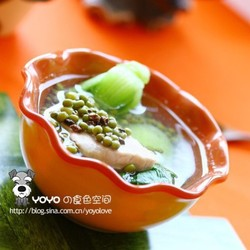 决明子绿豆瘦肉汤