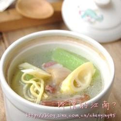 千张咸肉笋片汤