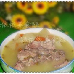 沙葛绿豆脊骨汤