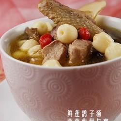 鲜莲鸽子汤