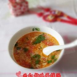 西红柿鸡蛋拌汤