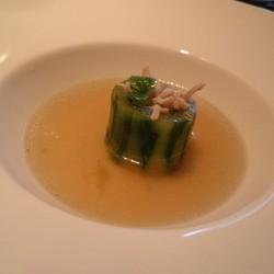 青瓜鸡丝盅配香菇鸡汤