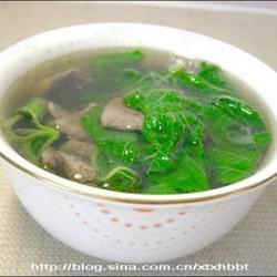 猪肝野菜汤