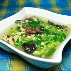 木耳青菜鸡蛋汤