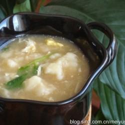 肉菜鸡蛋疙瘩汤