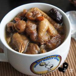 红枣圆肉鸽子汤