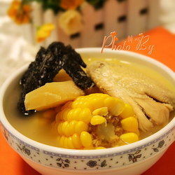 甘蔗粟米煲鸡汤