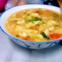 番茄鸡蛋面疙瘩汤