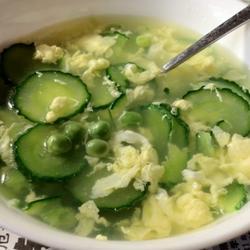 黄瓜鸡蛋豌豆汤