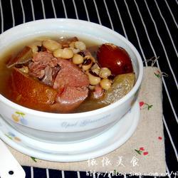 老黄瓜眉豆猪骨汤