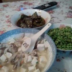 平菇鸡蛋豆腐汤