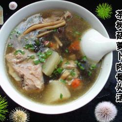 茶树菇萝卜肉骨头汤