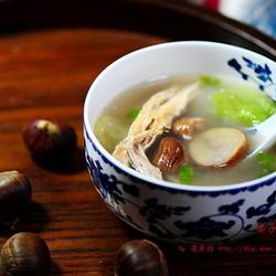 栗子白菜鸭架汤