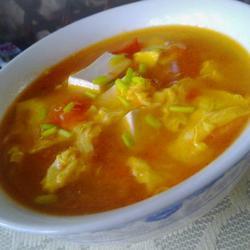番茄鸡蛋豆腐汤