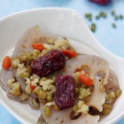 莲藕绿豆汤