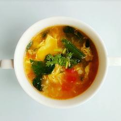 青菜鸡蛋面疙瘩汤
