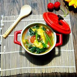 番茄鸡蛋菠菜汤