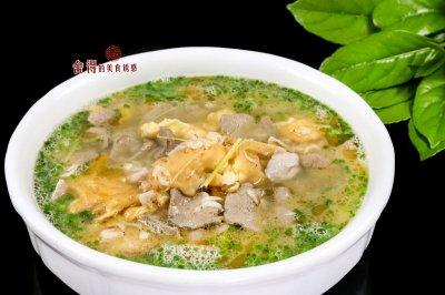 营养丰富的猪肝鸭蛋汤