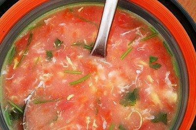 无油西红柿鸡蛋汤