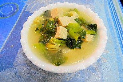 青菜冻豆腐汤