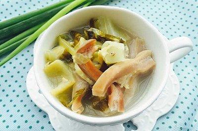 猪肚酸菜汤