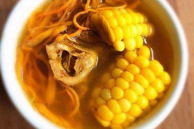 虫草花猪骨玉米汤