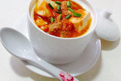 茄汁牛肉丸豆腐汤
