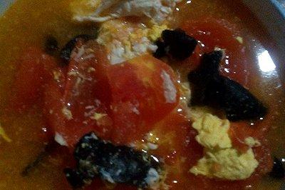 番茄鸡蛋木耳汤