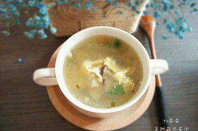 茶树菇鸡蛋汤