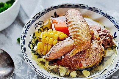 南杏椰子玉米鸡汤