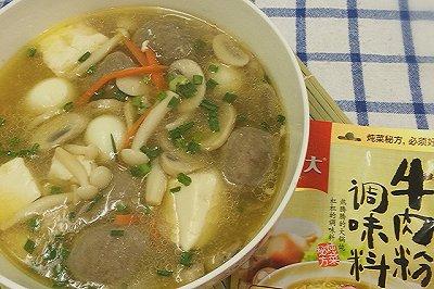 菌菇牛肉丸汤